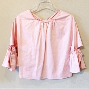 ZARA Pink Top with Bow on Back